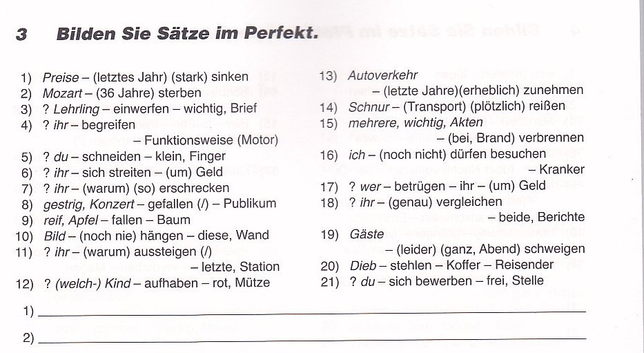 uregelmæssige verber tysk